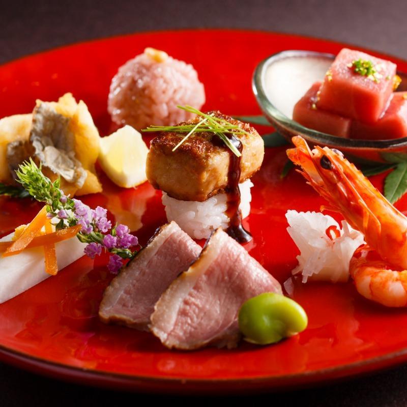 【日曜限定!3大特典】和牛&オマール7品2万円コース無料試食