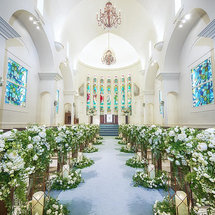 安心の個別ご案内【試着付】イメージが沸く大聖堂チャペル入場体験フェア